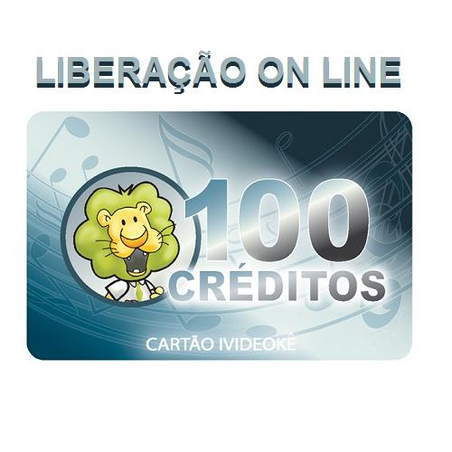 Cartão pré-pago 100 créditos ivideokê p/ sua conta videokê