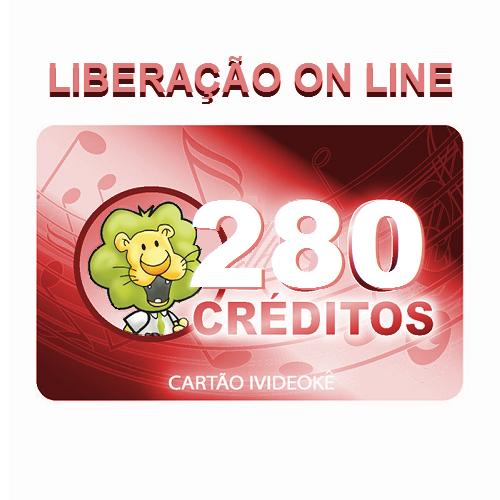 Cartão pré-pago 280 créditos ivideokê p/ sua conta videokê.
